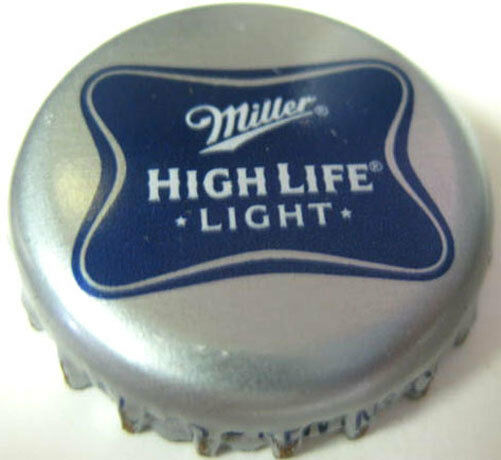miller high life light used beer crown bottle cap milwaukee wisconsin ebay. Black Bedroom Furniture Sets. Home Design Ideas