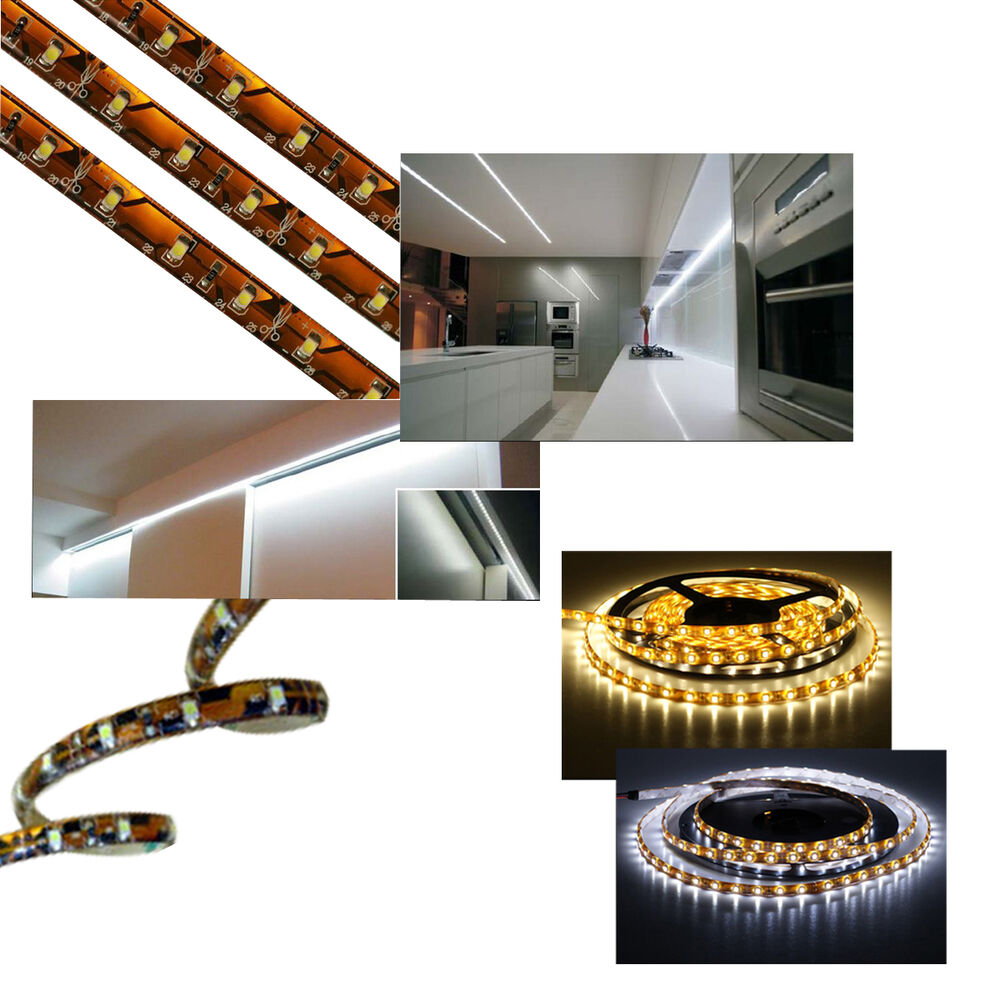 1 x 5m self adhesive under cabinet led strip lighting 12v. Black Bedroom Furniture Sets. Home Design Ideas
