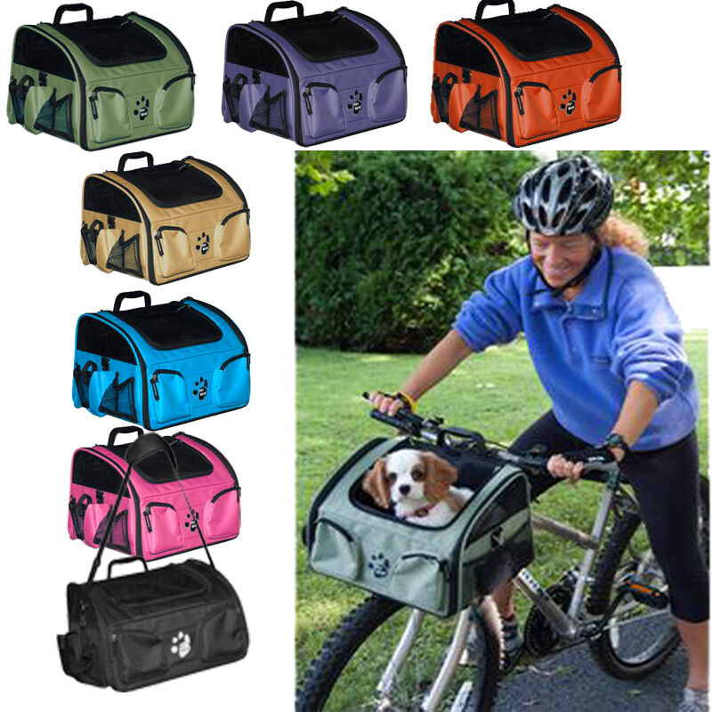 3 in 1 bike bicycle basket dog cat carrier car seat travel tote pet gear new ebay for Travel gear car
