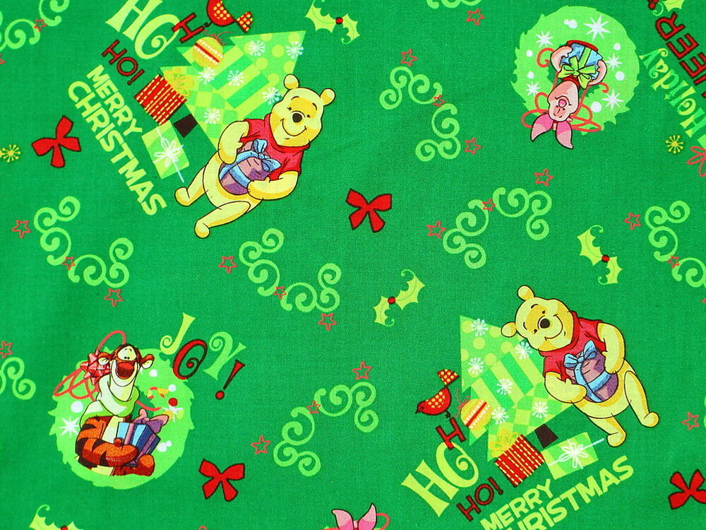 Disney Winnie The Pooh Holiday Cheer Christmas Cototn