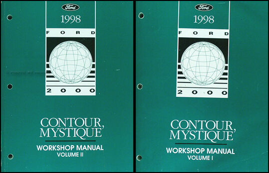 1998 Ford Contour Mercury Mystique Shop Manual Set 98 Repair Service 2 Volumes