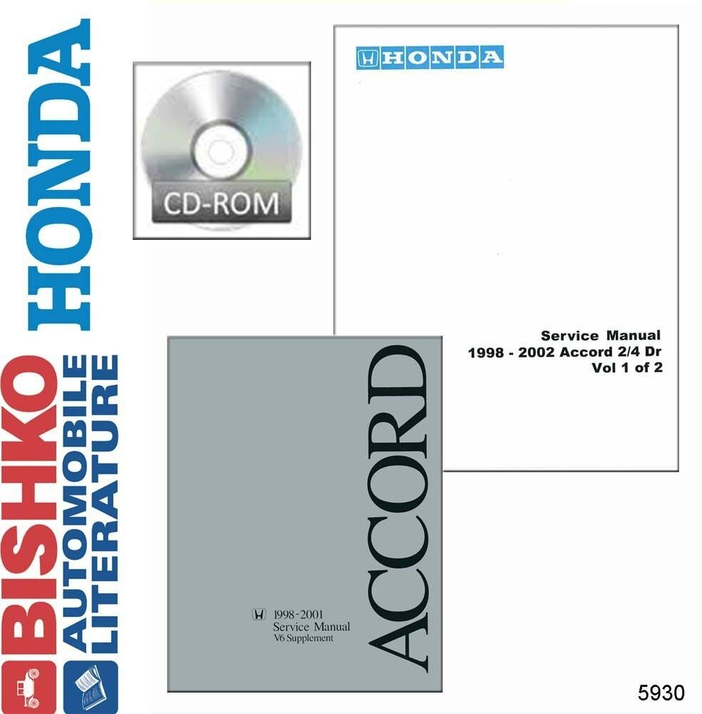 1998 1999 2000 2001 2002 Honda Accord Shop Service Repair Manual DVD OEM  Guide | eBay