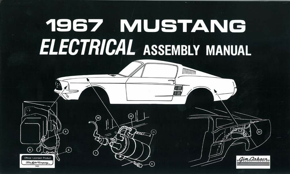 1967 ford mustang electrical assembly manual wiring harness routing book oem ebay. Black Bedroom Furniture Sets. Home Design Ideas