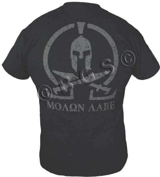98c89524cbf MOLON LABE shirt SPARTAN COME AND TAKE IT THEM BLACK SPEC OPS Pro Gun S -  3X