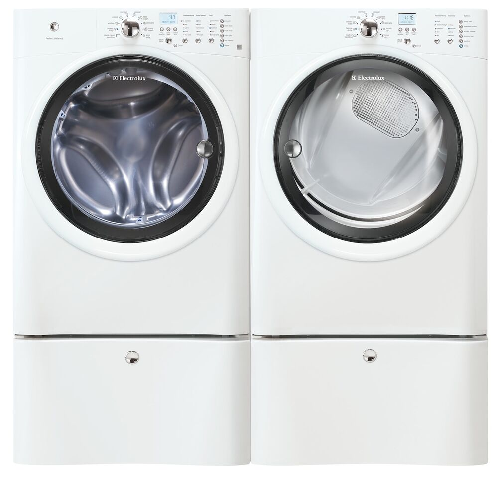 Electrolux white front load washer and electric dryer Electrolux washer and dryer