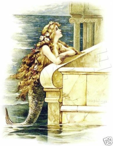 Vintage Little Mermaid 2 Fairy Fantasy Canvas Art Print Ebay