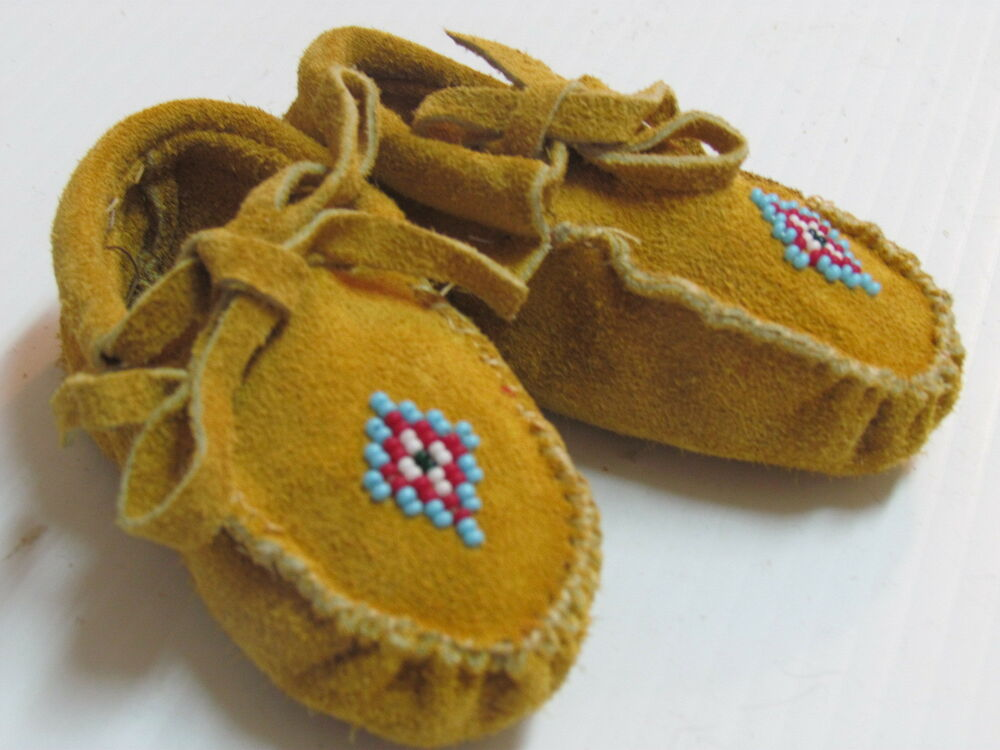 american beaded moccasins for baby 4 inches cozy