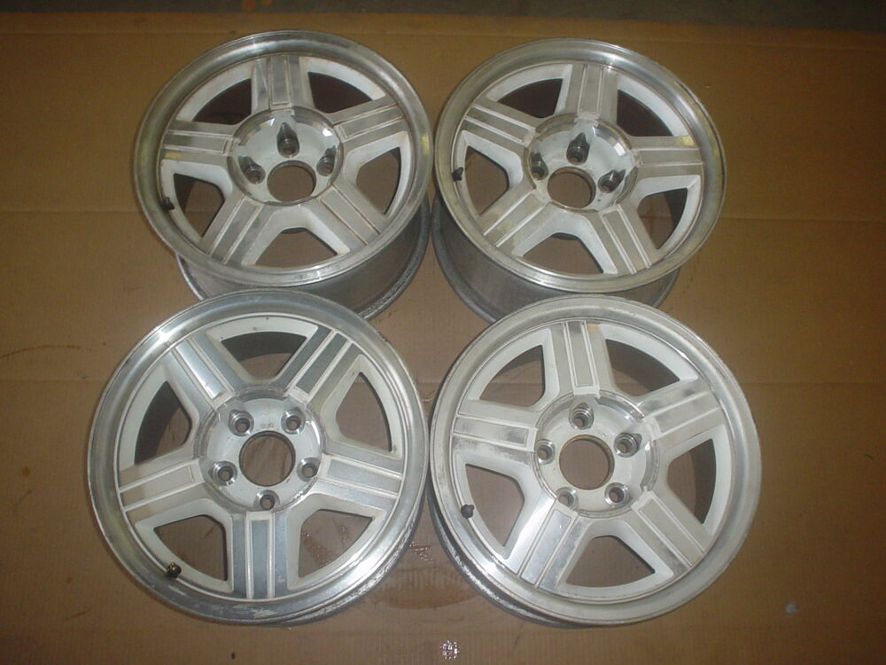 91 92 Camaro Rs Z28 Wheels White 16x8 Set Of 4 712 3 Ebay