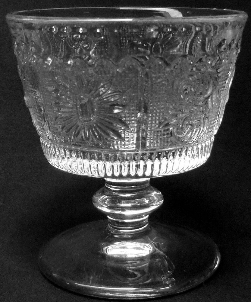 Westmoreland Glass Clear Crystal Princess Feather Pattern ...