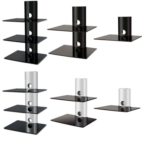 Dvd Glass Wall Shelves Bracket Cable Management For Sky