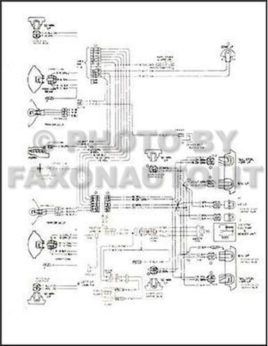 1973 Chevy Ck Truck Wiring Diagram Pickup Suburban Blazer Chevrolet Electrical