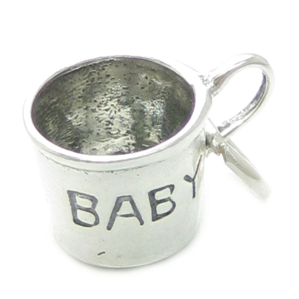 Baby Cup Sterling Silver Charm 925 X 1 Babies Sipper Cups
