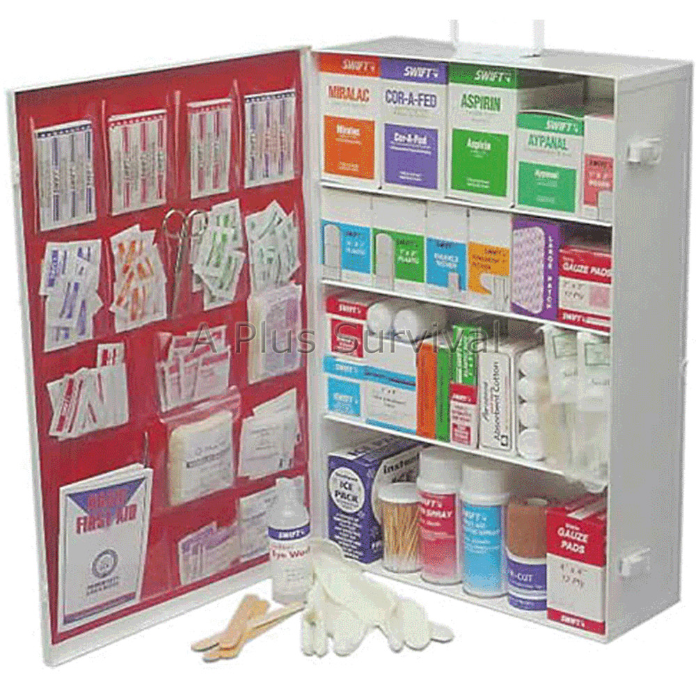 large commercial first aid cabinet 4 shelf ebay. Black Bedroom Furniture Sets. Home Design Ideas