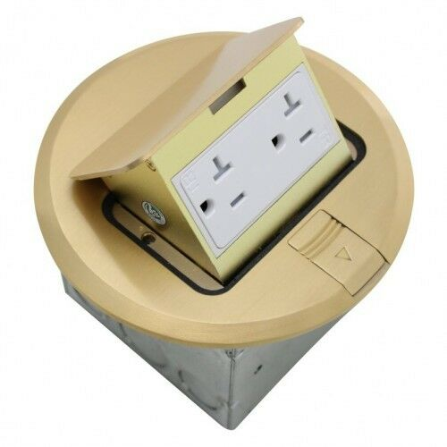 Orbit flbpu d r br floor box pop up with duplex receptacle for Floor receptacle