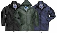 PORTWEST WATERPROOF RAIN JACKET COAT MAC BLACK OLIVE NAVY S M L XL XXL 3XL 4XL