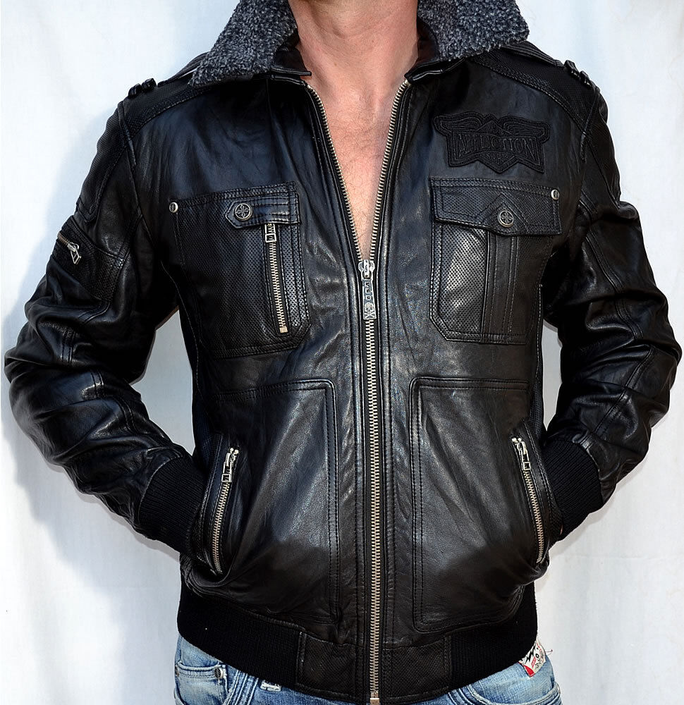 When looking for motorcycle jackets you will come across a great many varieties. If you would like to go for a leather motorcycle jacket that shouts raw masculinity, yet does not have a lot of extra detailing, keeping the look clean and minimalistic, then you should go for this premium leather scooter motorcycle jacket.