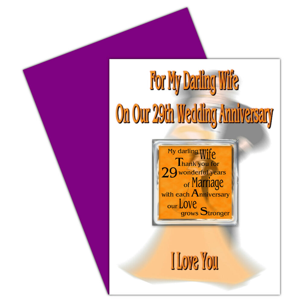 ... Years - Our Wedding Anniversary Card & Removable Magnet Gift eBay