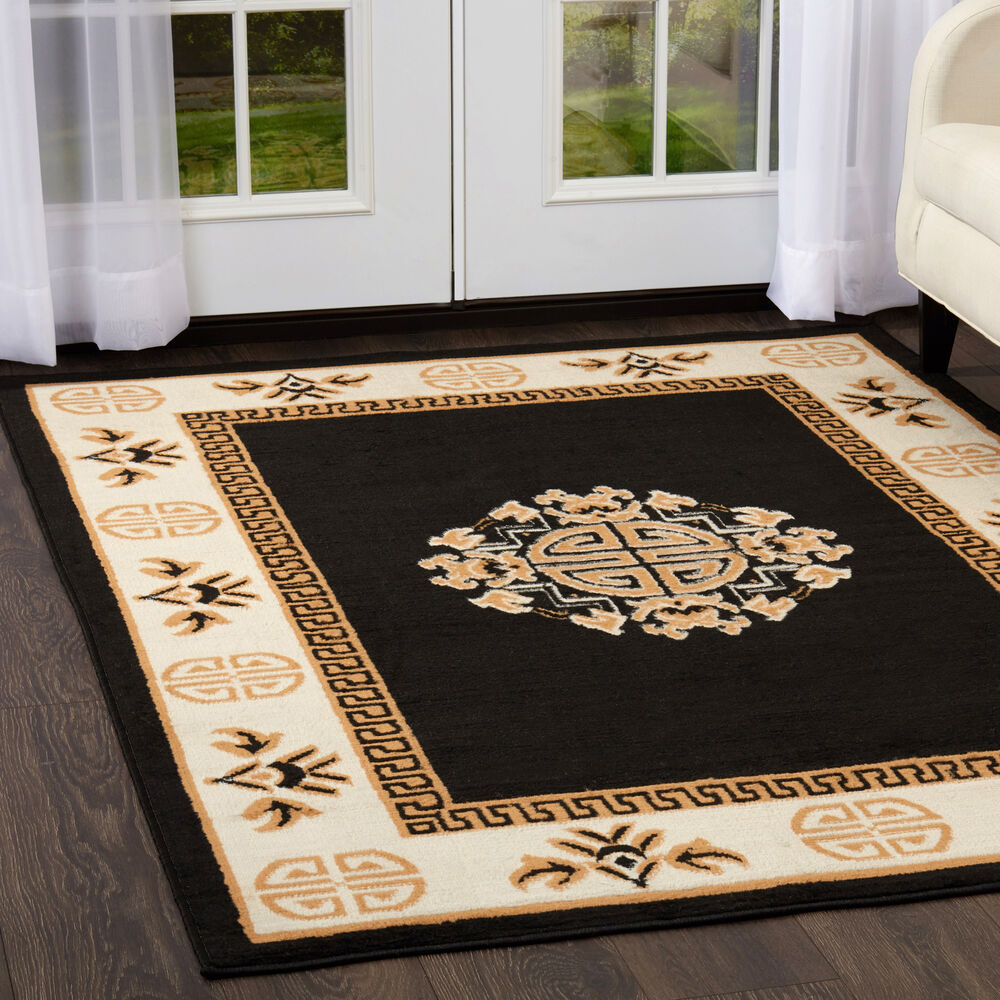 Oriental Black Area Rug Runner 2 X 8 Persian Carpet 14