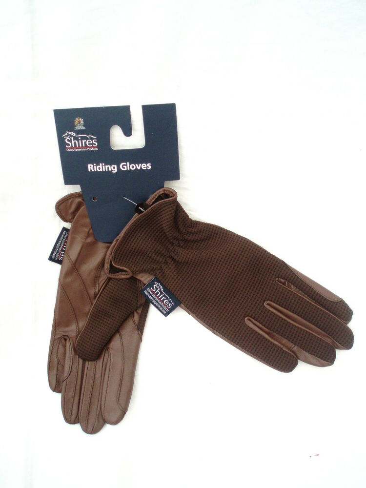 Ladies leather horse riding gloves - Ladies Horse Riding Leather Gloves Quot Chilworth Quot Brown Extra Small By
