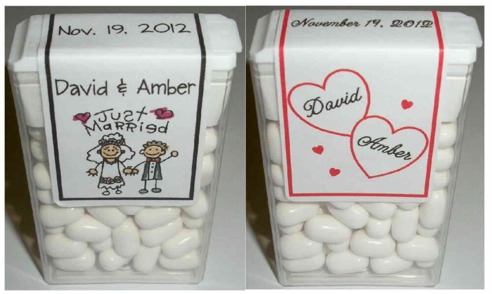 Personalized Disney Wedding Gifts: 70 WEDDING FAVORS TIC TAC LABELS ~ PERSONALIZED
