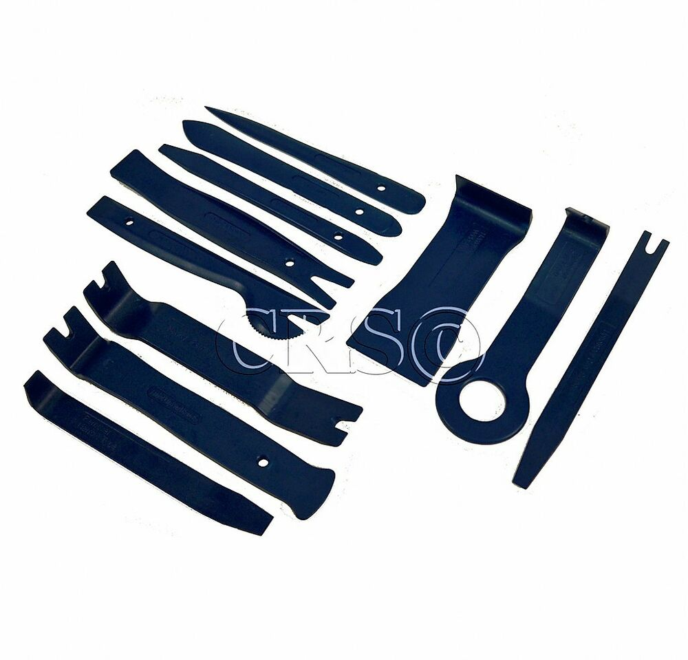 11 pc plastic tool kit trim removal clip interior wedge door panel console set ebay. Black Bedroom Furniture Sets. Home Design Ideas
