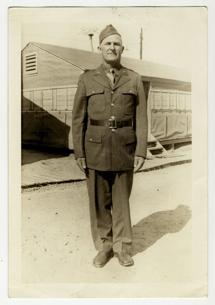 World War II Military Photo Soldier in Uniform Camp Shelby ...