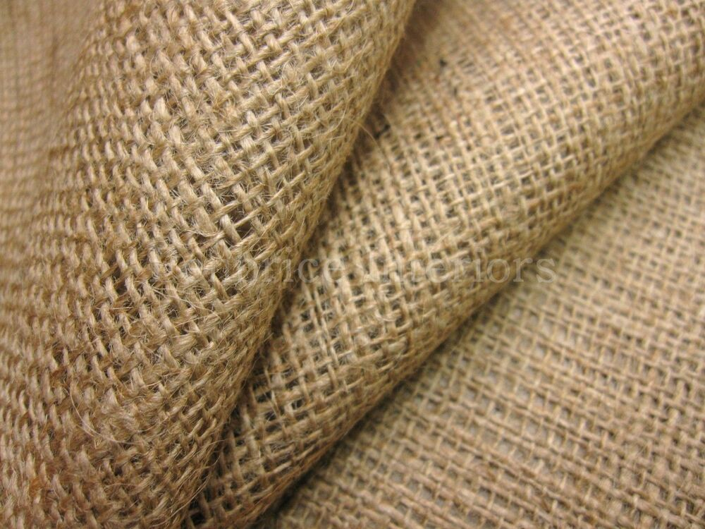 50m roll natural hessian jute sack burlap fabric