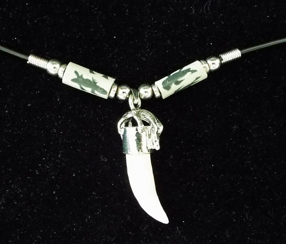 Crocodile Tooth Necklace: Alligator Tooth Necklace GT40 Swamp People Gator New