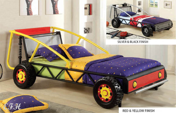 New Racer Red Yellow Or Black Silver Finish Metal Twin