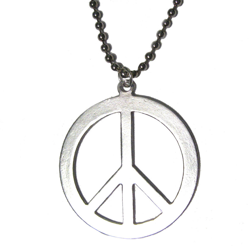 Classic peace sign silver plated pendant charm 24 necklace world classic peace sign silver plated pendant charm 24 necklace world peace ebay buycottarizona Gallery