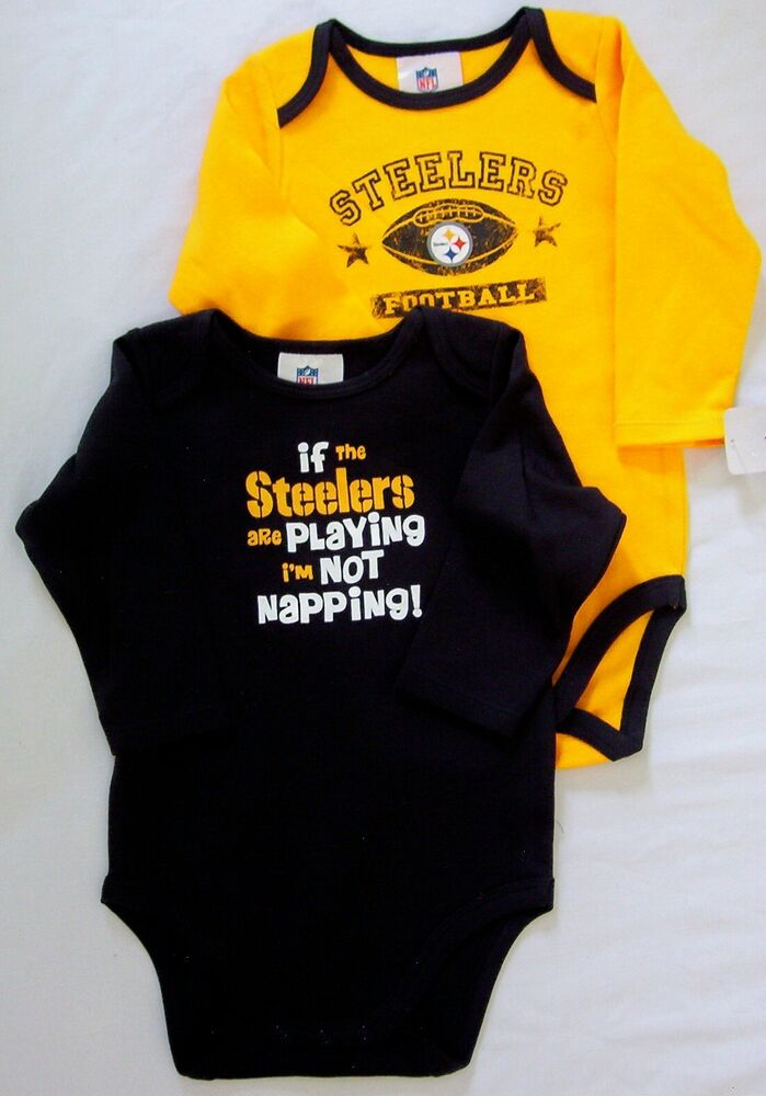Pittsburgh Steelers Baby Infant Creeper Bodysuit 2 Pack 0