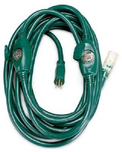 Master Electric 09001me 25 14 3 Sjtw Multi Outlet Green