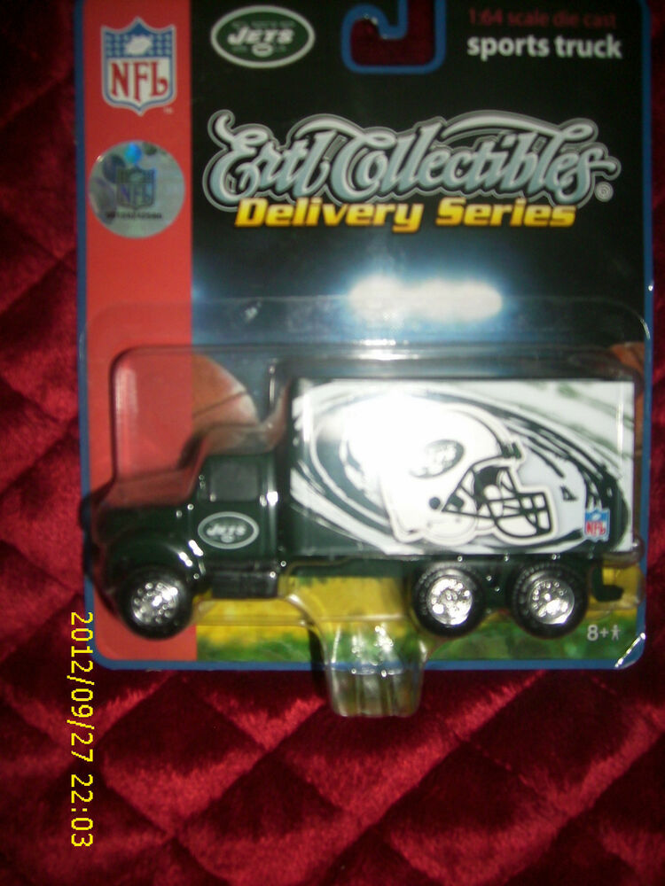 Nfl Toy Trucks : Nfl ertl collectibles delivery series jets sports truck