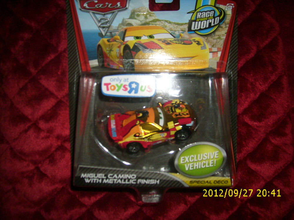 Disney pixar cars 2 miguel camino with metallic finish for Bureau cars toys r us