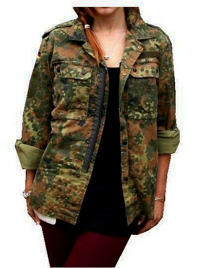 Military Army Urban Vintage Shirt Jacket Camouflage Camo