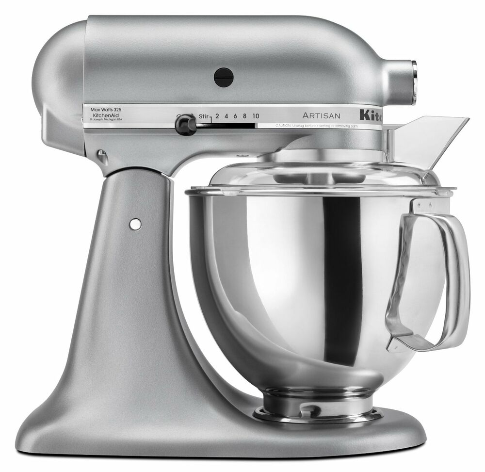 kitchenaid stand mixer tilt 5 quart ksm150pssm artisan silver metallic new 50946877020 ebay. Black Bedroom Furniture Sets. Home Design Ideas