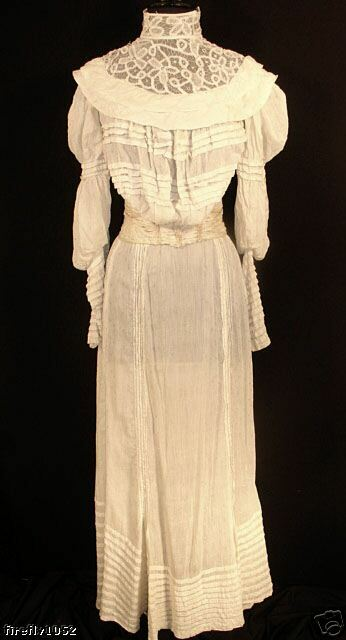 vintage antique victorian 1800 39 s wedding dress w train size small