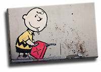 Banksy Charlie Brown Giclee Canvas Wall Art Picture