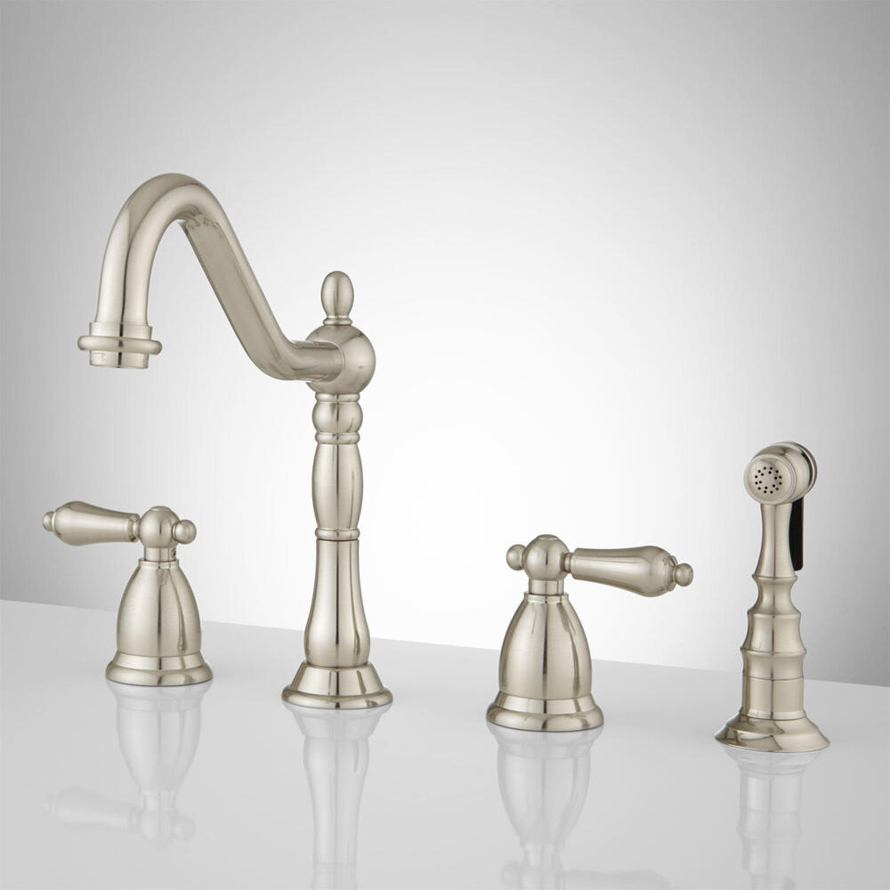 Kitchen faucet one hole with sprayer - Brushed Satin Nickel Kitchen Faucet Contemporary Euro