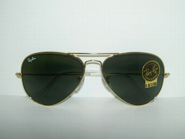 Police Gold Frame Sunglasses : New RAY BAN AVIATOR Sunglasses GOLD FRAME RB 3025 W3234 ...