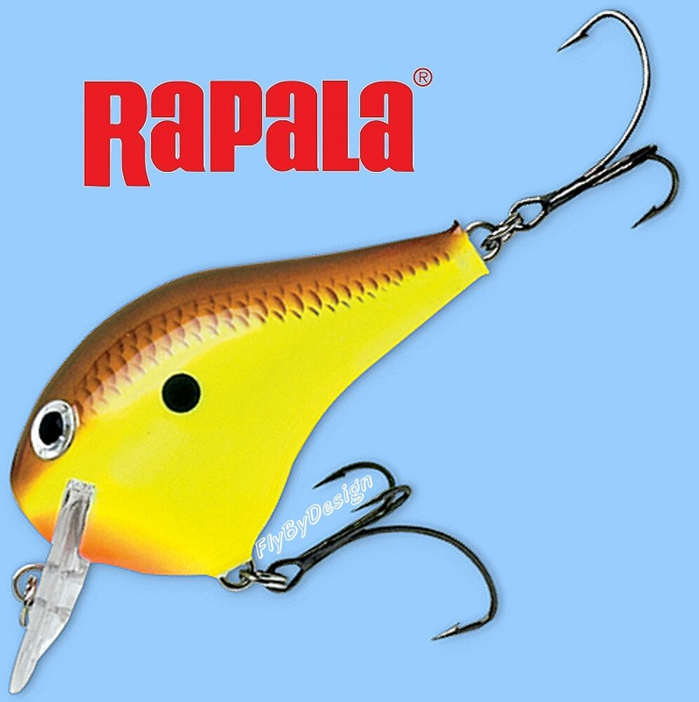 Rapala Fat Chartreuse Brown Fishing Lure Dives To 1 Foot