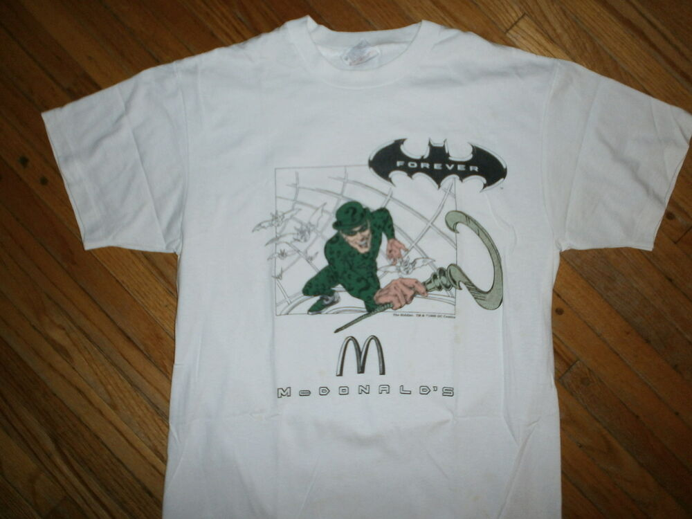 Vtg 90s the riddler t shirt batman forever jim carrey for Riddler t shirt with bats