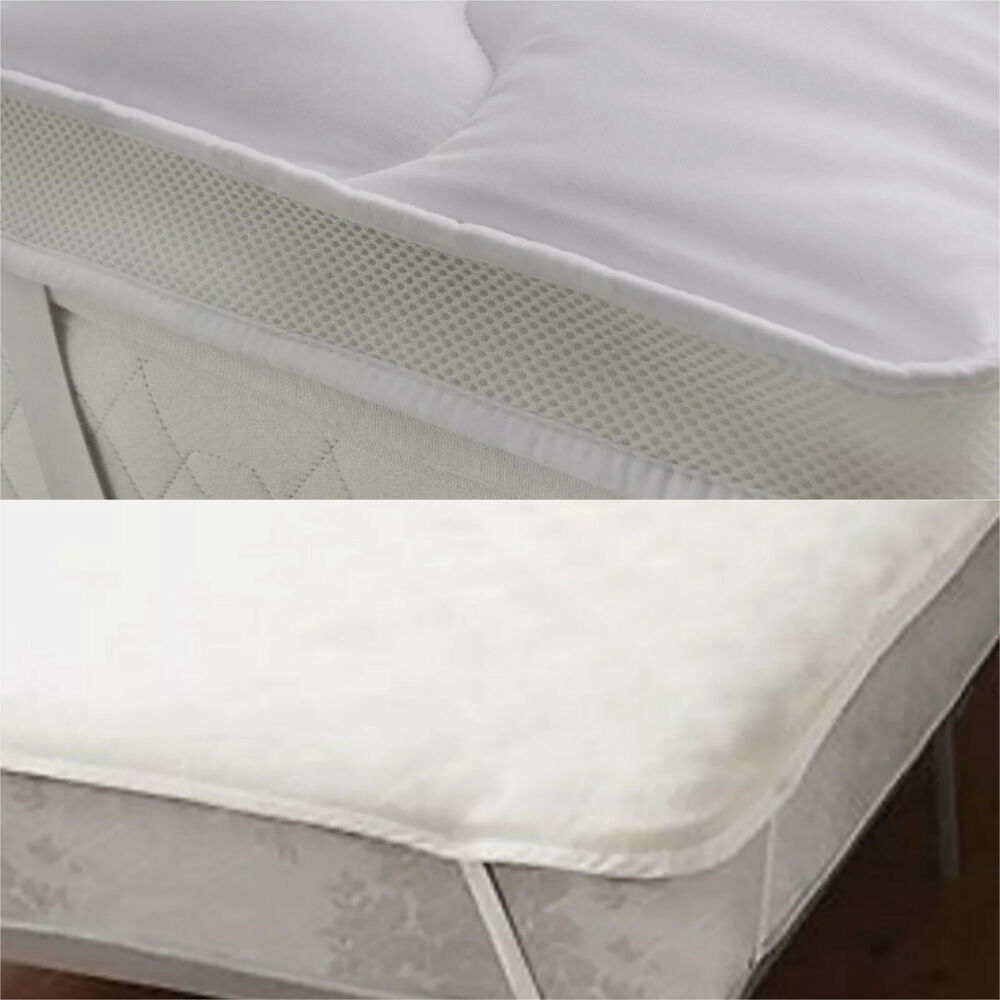 Soft as down microfibre quilted mattress topper enhancer for Best soft mattress pad
