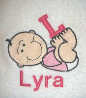 PERSONALISED BABY FLEECE BLANKET,CHOICE OF 6 COLOURS