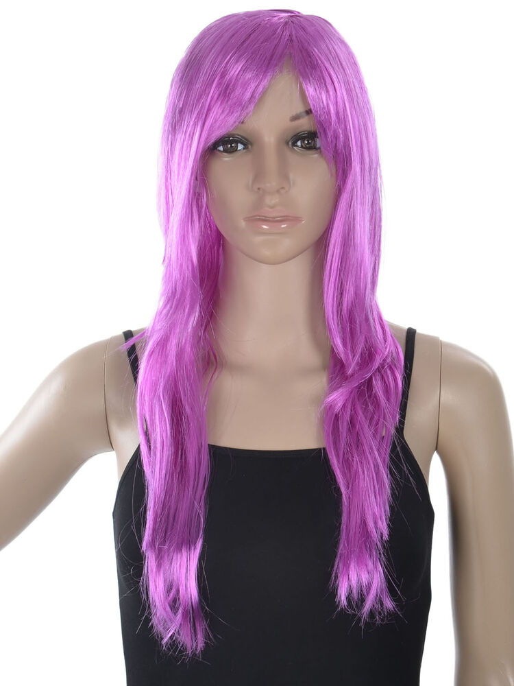New Style Halloween Long Straight Hair Women's Girl Full Wig Cosplay Party Wig | eBay