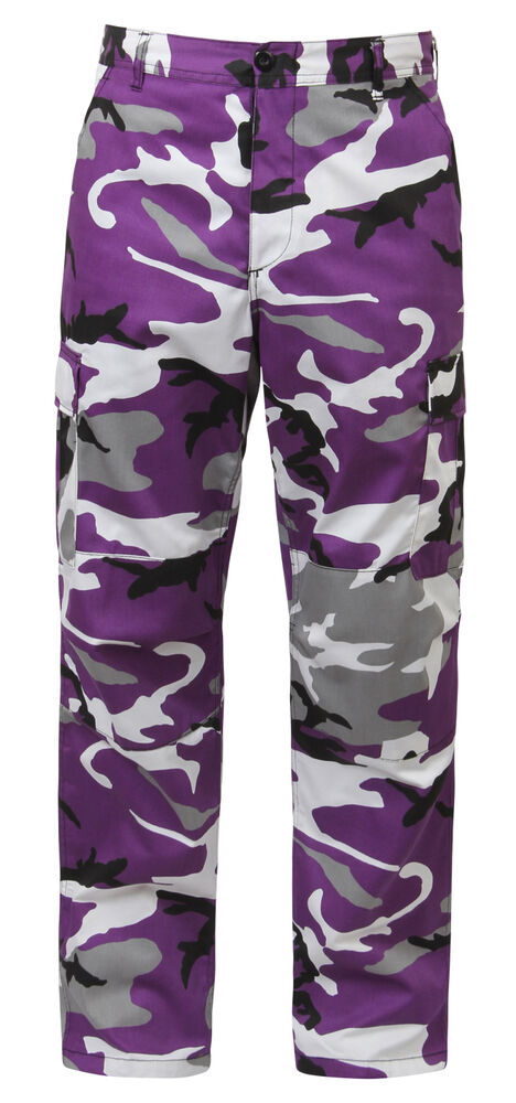 bdu camo pants military style cargo trousers ultra violet ...