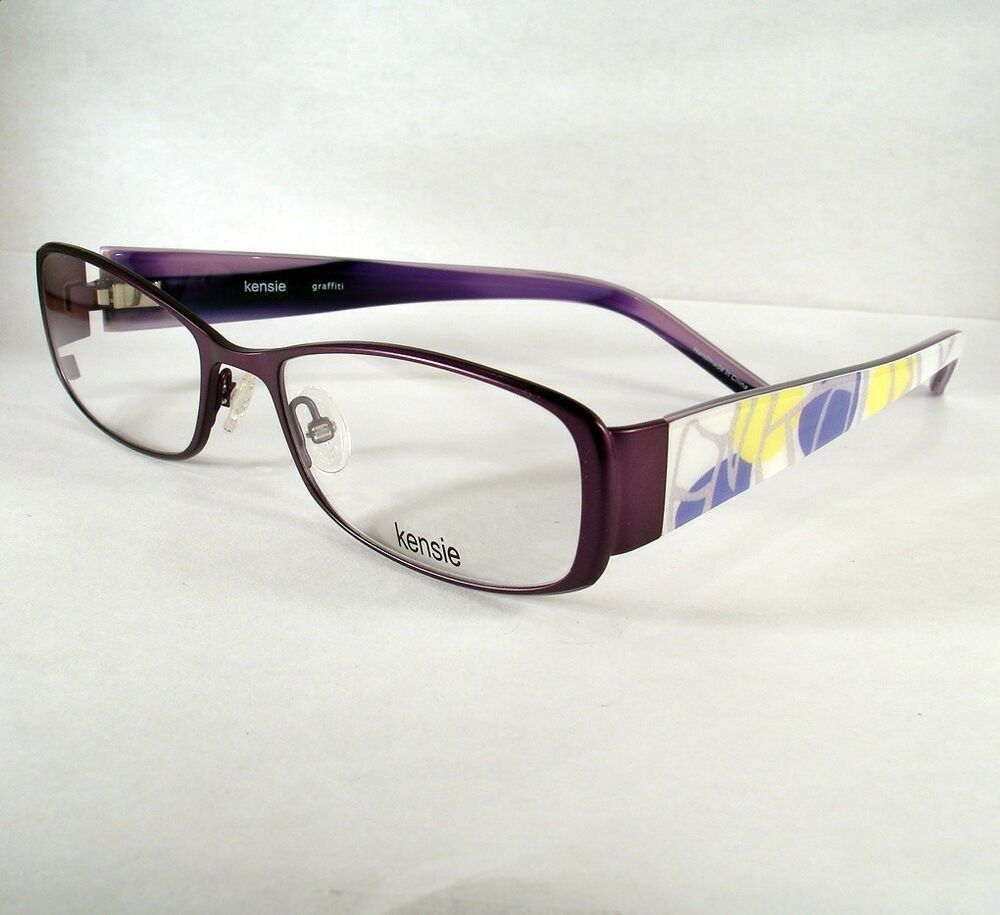 Kensie Women s Eyeglass Frames : KENSIE GRAFFITI PLUM Eyeglass Eyewear Women Frames Glasses ...