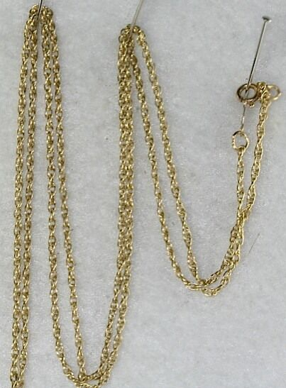 used 14k gold 24 inch long thin rope chain necklace ebay
