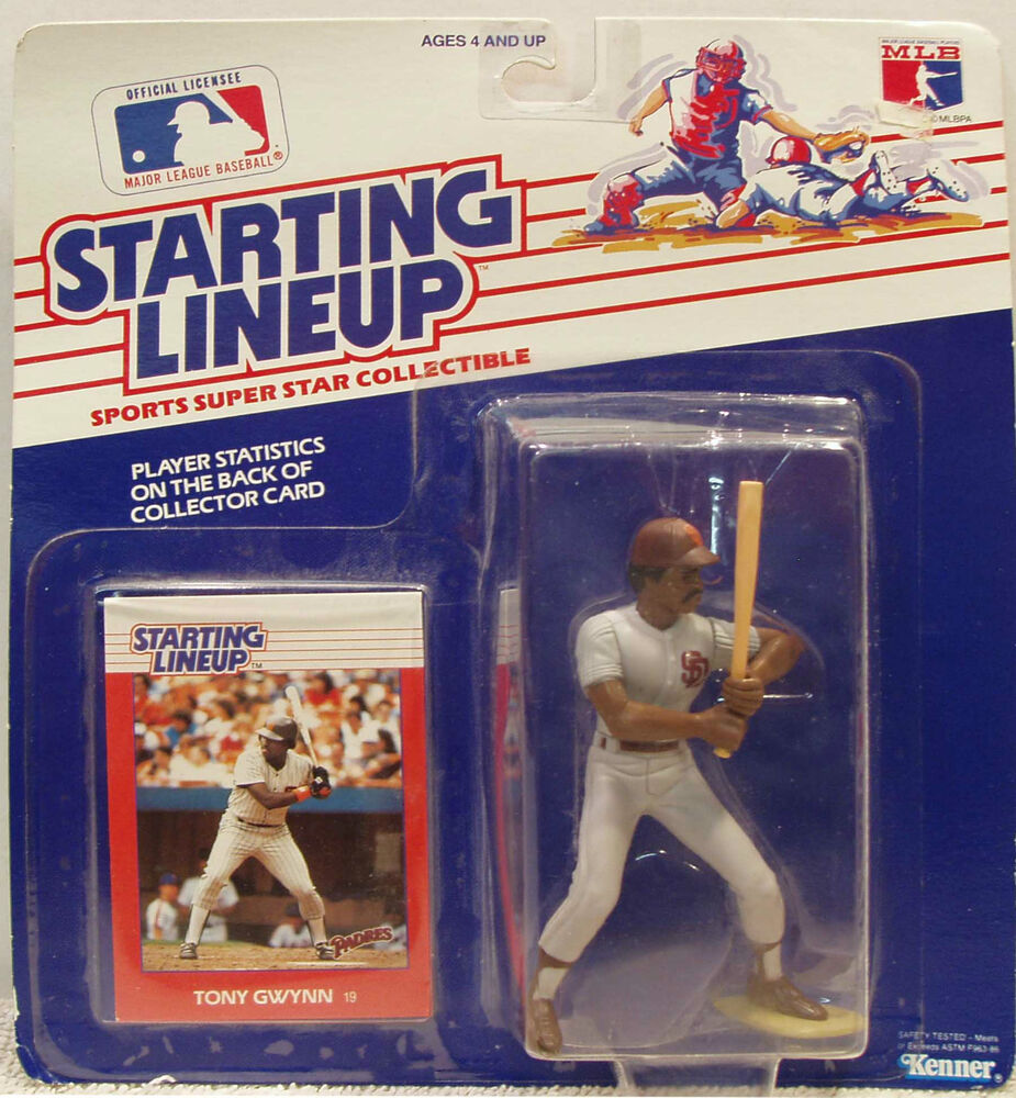 Offer Up San Diego >> Tony Gwynn © 1988 Kenner Starting Lineup, San Diego Padres Baseball | eBay