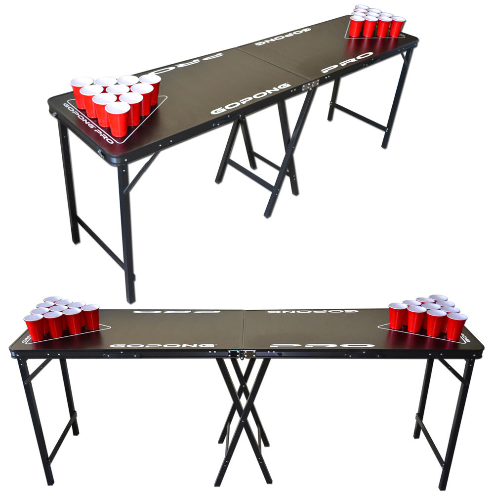 Gopong Pro 8 Portable Beer Pong Amp Flip Cup Table